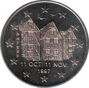 2 euros de Tours et de Touraine (Maisons à colombages) [37] – avers