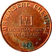 Jeton Volksbank – avers