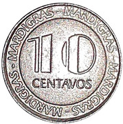 Token - Casino MardiGras (10 Centavos) – revers