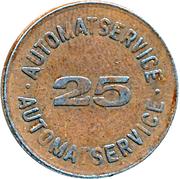 25 Spillemærke - Automatservice – avers