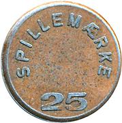 25 Spillemærke - Automatservice – revers