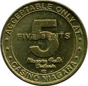 5c. Gaming token - Casino Niagara – revers
