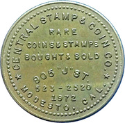 Central Stamp & Coin Co Token – revers