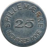 25 Spillemærke - Indløses Ikke (MI 20 41) – revers