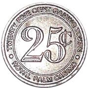 25 Cents - Aruba Royal Palm Casino – revers