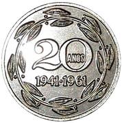 Medal - 20 Years Munhoz F. Bank – revers