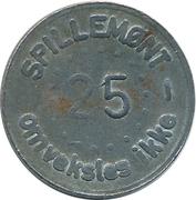 25 Spillemønt - Omveksles ikke – avers