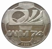 """Jeton """" coupe du monde de foot 1974 Munich """" – avers"""