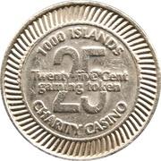Token - 1000 Islands Charity Casino – revers