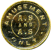 Amusement Token - A.S and A.S – avers