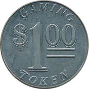 1 Dollar Gaming Token - Casino Monrovia – revers