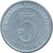 Token - N.V. Hadlesmaatschappij de Veluwe (5) – revers