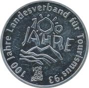 100 Schilling - Casinos Austria (Landesverband für Tourismus) – avers