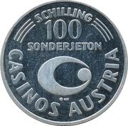 100 Schilling - Casinos Austria (Landesverband für Tourismus) – revers