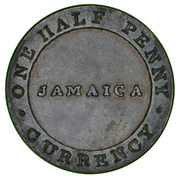 William Smith 1/2 penny Jamaica Currency – avers