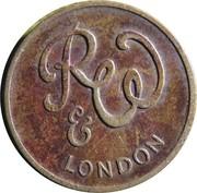 Vending Token - R&W London – avers
