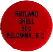 Rutland Shell 50 Cents – avers