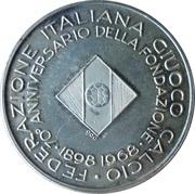 Jeton - Federazione Italiana Giuoco Calcio – avers