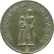 Jeton Sparkasse Weltspartag 1968 (Hannover) – avers