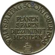 Jeton Sparkasse Weltspartag 1968 (Hannover) – revers