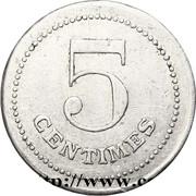 5 centimes - Prisonniers de guerre (Etampes) – revers
