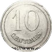 10 centimes - Prisonniers de guerre (Etampes) – revers