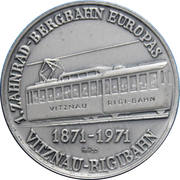Switzerland, 1971 Rigibahn Toothed Rail 100th Anniversary – avers
