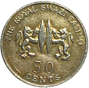 50 Cents - The Royal Swazi Casino – revers