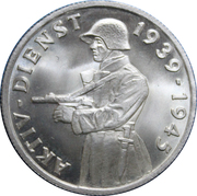 Switzerland, Aktivdienst - Commemorative medallion for Active Duty during 1939 to 1945 – avers