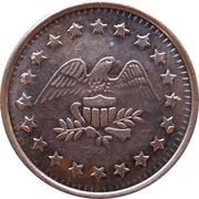 Token - No Cash Value (Eagle looking right; 22 mm; Copper) – avers