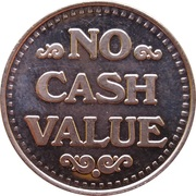 Token - No Cash Value (Eagle looking right; 22 mm; Copper) – revers