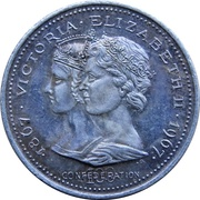 Medal - Confederation Centennial - Victoria & Elizabeth II (Silver) – avers