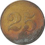 """25 pfennig (Werth-Marke ; Contremarque """"L"""") – revers"""