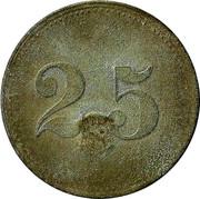 25 pfennig (Wert-Marke ; Contremarque) – revers