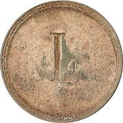 """25 pfennig (Werth-Marke ; Ligne de points ; Contremarque """"L"""") – revers"""