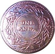 East India Company One Anna - Banyan Tree – revers