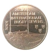 25 years Internationaal Rugby Sevens – revers