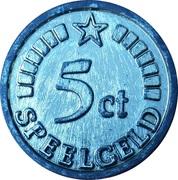 5 Cent (Speelgeld) – avers
