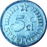 5 Cent (Speelgeld) – revers