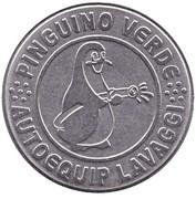 Jeton de lavage automobile - Pinguino verde – avers