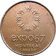 Token - Expo 67 Montreal (Canadian Pavilion) – avers