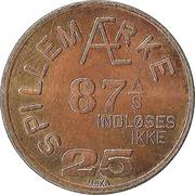 25 Spillemærke - Indløses Ikke (87 A/S) – avers