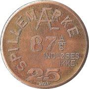25 Spillemærke - Indløses Ikke (87 A/S) – revers