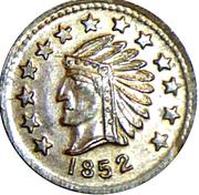 Token - 1852 California 1/2 – avers