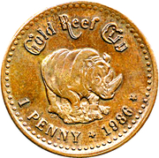 1 Penny - Gold Reef City – revers