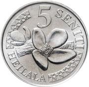 5 seniti (Tupou VI) – revers
