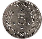 5 seniti – revers