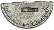 4 Shillings  1-½ Pence (Countermark type II) – avers