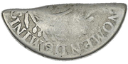 4 Shillings 1½ Pence (Type I countermark) – revers