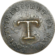 1½  Pence (Black Dog; Cayenne colony 2 sous host) – revers